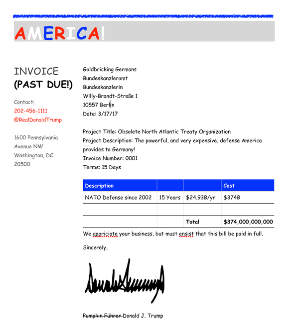 A Real Fake Invoice