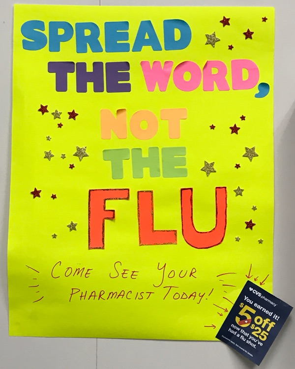 Spread the word, not the flu