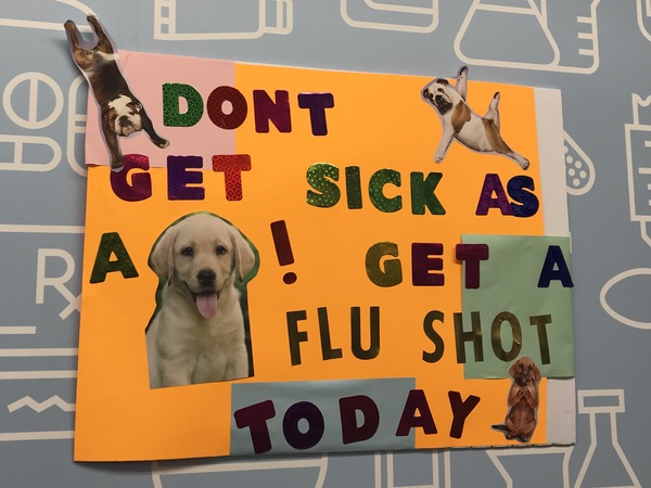 Don't get sick as a dog! Get a flu shot today