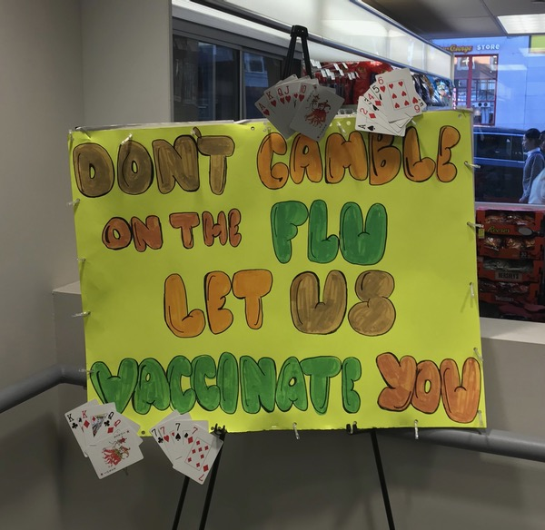 Don't gamble on the flu / Let us vaccinate you
