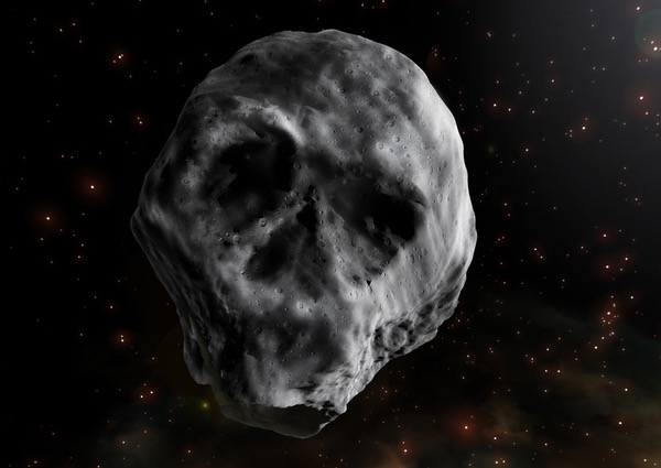 A skull-shaped asteroid