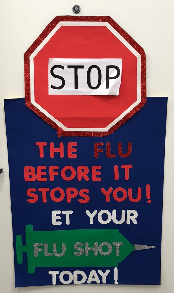 Stop the flu before it stops you! (G)et your flu shot today