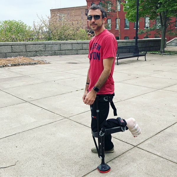 Your humble author standing with his iWalk