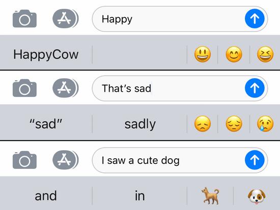 """a2de1a9626286d Emoji suggestions for """"Happy"""""""