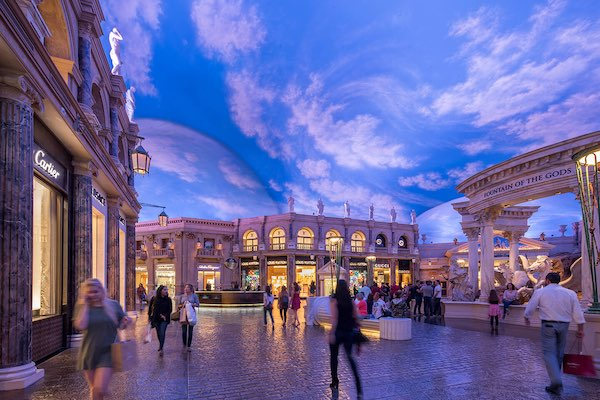 Photo of the Forum Shops mall