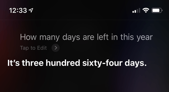 Answer: It's three hundred sixty-four days
