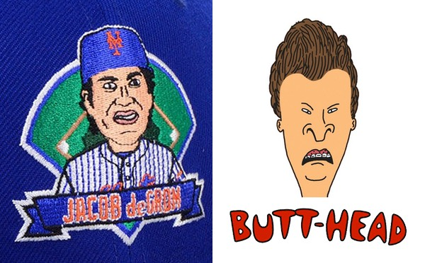 Jacob deGrom next to Butthead