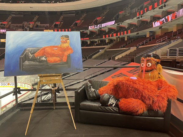 Gritty and the Gritty painting
