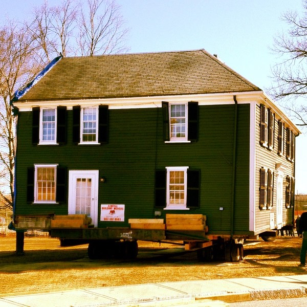 The Belmont house, on a trailer