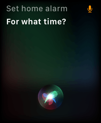 Siri on the Apple Watch getting confused about what alarm I want