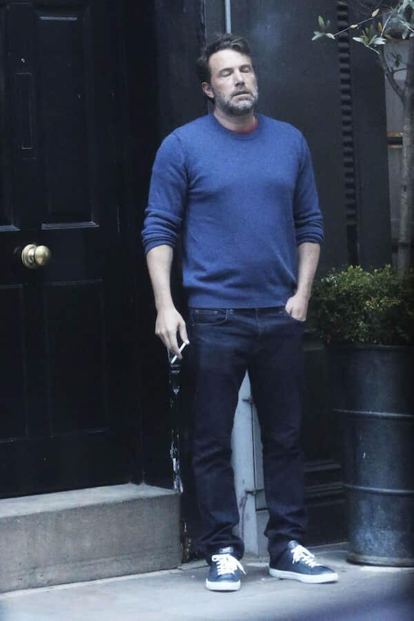 Ben Affleck, alone, looking weary